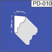 Підвіконня з пінополістиролу Валькірія 130х200 мм (PD 010)