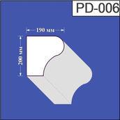 Підвіконня з пінополістиролу Валькірія 190х200 мм (PD 006)