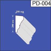 Підвіконня з пінополістиролу Валькірія 100х200 мм (PD 004)