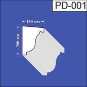 Підвіконня з пінополістиролу Валькірія 150х200 мм (PD 001)