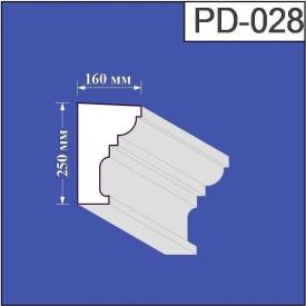 Підвіконня з пінополістиролу Валькірія 160х250 мм (PD 028)