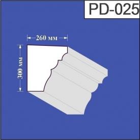 Підвіконня з пінополістиролу Валькірія 260х300 мм (PD 025)