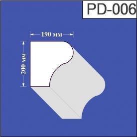 Подоконник из пенополистирола Валькирия 190х200 мм (PD 006)