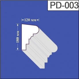Подоконник из пенополистирола Валькирия 120х180 мм (PD 003)