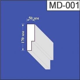 Молдинг из пенополистирола Валькирия 50х170 мм (MD 001)