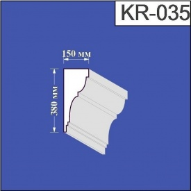 Карниз из пенополистирола Валькирия 150х380 мм (KR 035)