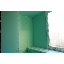 Обшивка балкона гіпсокартоном