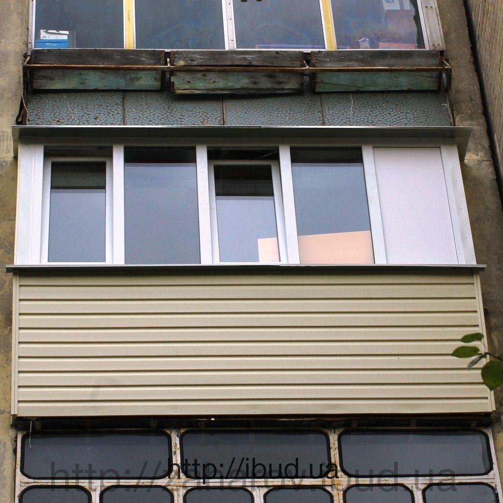 Как обшить балкон сайдингом.
