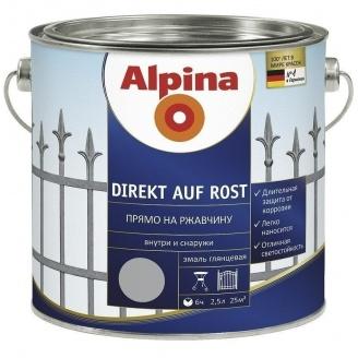 Эмаль Alpina Direkt auf Rost 2,5 л