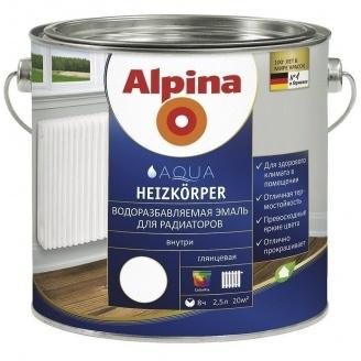 Емаль Alpina Aqua Heizkоrper 2,5 л