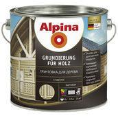 Грунтовка для дерева Alpina Grundierung fur Holz 10 л