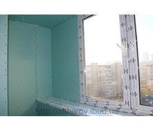 Обшивка стін балкона гіпсокартоном