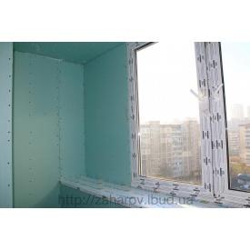 Обшивка стен балкона гипсокартоном