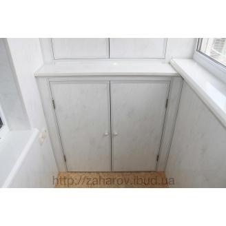 Внутренняя обшивка балкона пластиковой вагонкой