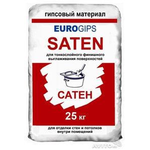 Фінішна шпаклівка EUROGIPS Saten 25 кг біла