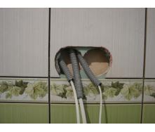 Вырезание подрозетников в плитке