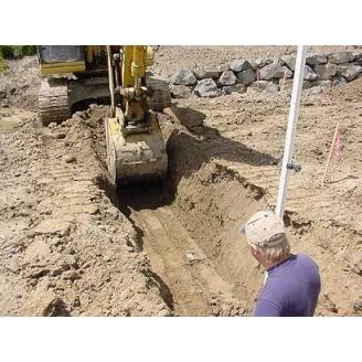 Копание траншеи под фундамент