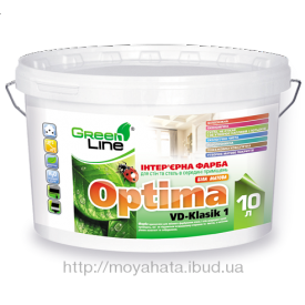 Інтер'єрна фарба Optima VD-Klasik 1 10 л
