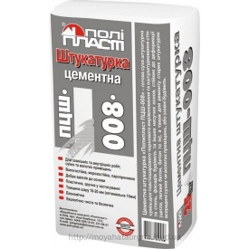 Штукатурка цементная Полипласт ПЦШ-008 для ручного нанесения