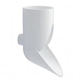 Відвід зливний декоративний Nicoll 80 мм білий