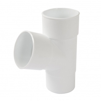 Трійник 67° Nicoll 25 ПРЕМІУМ 80 мм білий