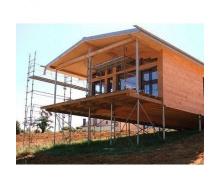 Строительство свайно-винтового фундамента для домов из дерева