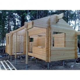 Установка гвинтових паль при будівництві каркасно-щитових об'єктів