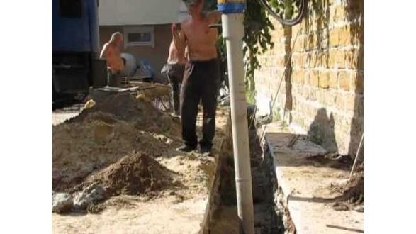 Бурение ям для установки свай, подпорной стенки, реконструкции фундаментов