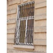 Решетка на окно гнутая металлическая из квадрата 12х12 мм 2,00х1,20 м