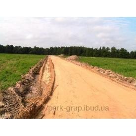 Влаштування песчанной основи 5 см