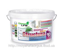 Декоративная структурная акриловая краска Green Line Structura 10 л