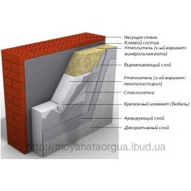 Система зовнішнього утеплення фасадів мінеральною ватою