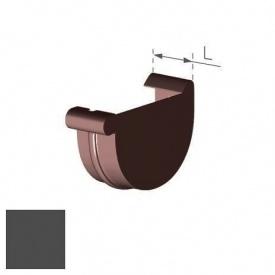 Заглушка права Gamrat 100 мм графітова