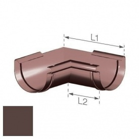Внутрішній кут Gamrat 125 мм коричневий