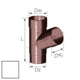 Трійник Gamrat 67,5° 90 мм білий