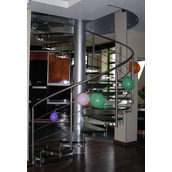 Лестница из нержавейки