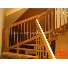 Лестничные перила из нержавеющей стали и дерева