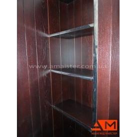 Полиця для гардероба з нержавіючої сталі