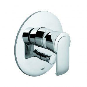 Вбудований змішувач для ванни та душу KLUDI JOOP! хром зелене кришталеве скло (55650H775)