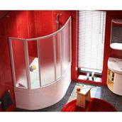 Раздвижные двери для ванн RAVAK VDKP4 Rosa 134х140 см (4DAMI10011)