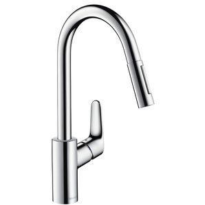 Змішувач для кухні Hansgrohe Focus одноважільний з висувним душем 1/2 дюйма (31815800)