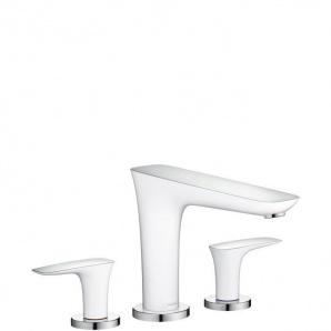 Змішувач на край ванни Hansgrohe PuraVida білий хром (15448400)