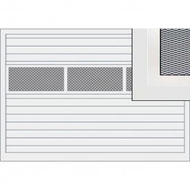 Подъемно-поворотные ворота Hormann ET500 мотив 480 с алюминиевыми рамами