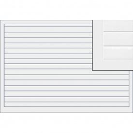 Подъемно-поворотные ворота Hormann ET500 мотив 480 филенка в виде секций