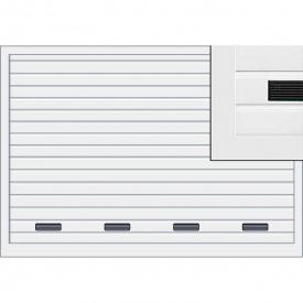 Подъемно-поворотные ворота Hormann ET500 мотив 480 с вентиляционной решеткой