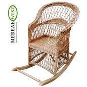Кресло-качалка Простая плетеное из лозы