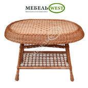 Стол плетеный с наплетом 90х65 см