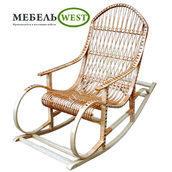 Кресло-качалка Буковая из лозы 148х60х100 см