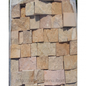 Плитка из кварцито-песчаника торцованная 10 см