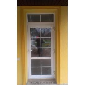 Алюминиевые входные двери с доводчиком